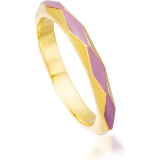 Astley Clarke Jewellery Heather Bloom Faceted 18ct Yellow Gold Vermeil 3mm Ring