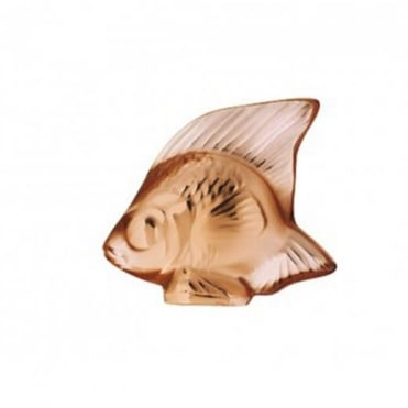 Lalique Crystal Fish Amber Crystal