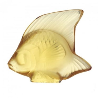 Lalique Gold Crystal Fish Figurine