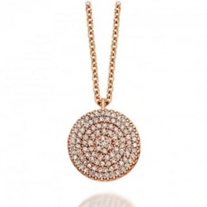 Astley Clarke Jewellery Large Icon 14ct Rose Gold Diamond Pendant