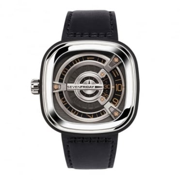 M-Series M1/03 Anthracite / Rose Gold Dial Strap Watch