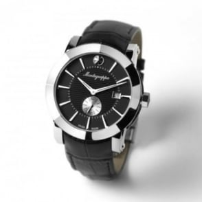 Montegrappa Watches NeroUno Black Dial Strap Watch