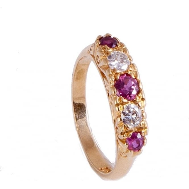 Owen & Robinson 18ct Yellow Gold Ruby & Diamond Dress Ring