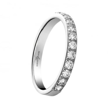 Owen & Robinson Elegance Platinum Round Brilliant Diamond Half Eternity Ring