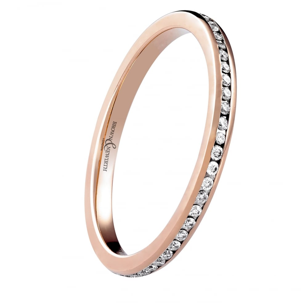 eternity bands wb single band pave in cttw diamond prong rose gold