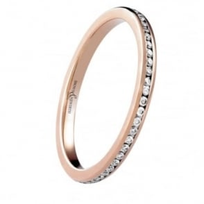 Owen & Robinson Eternal 18ct Rose Gold Channel Set Eternity Band