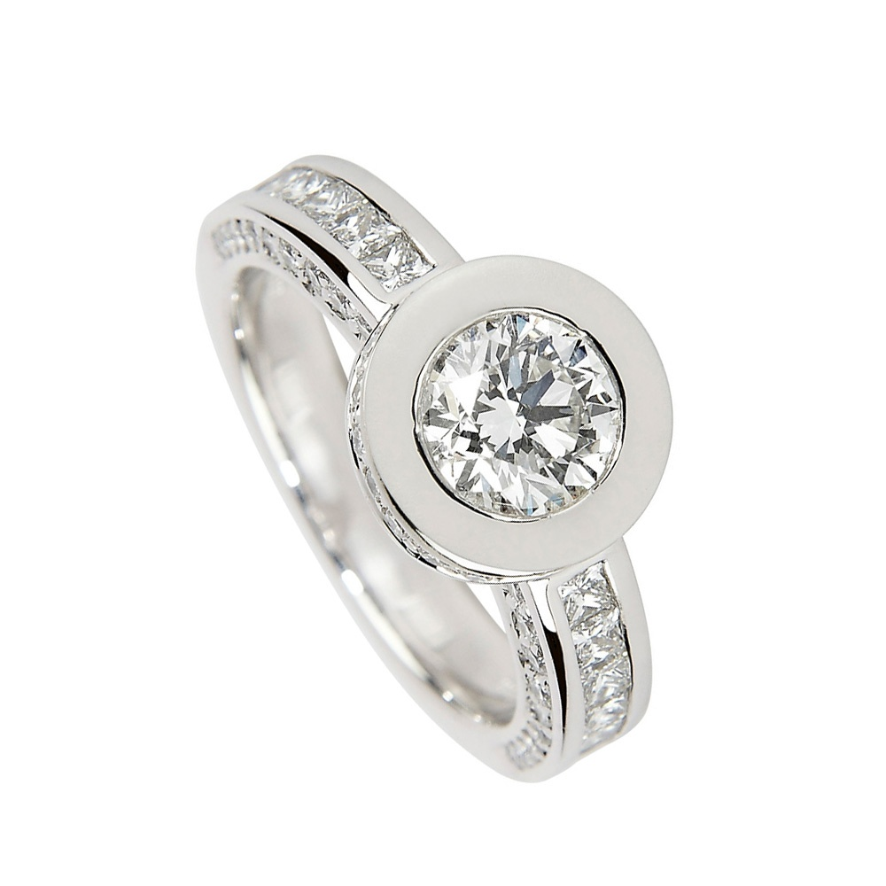 ring rings michael mark cluster set designs diamond bezel