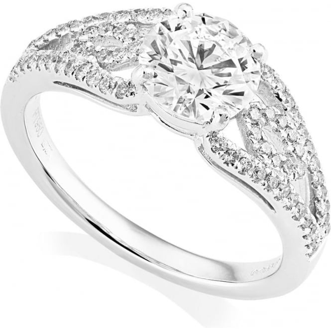 Owen & Robinson Platinum Ornamental Diamond ring, GIA Certified