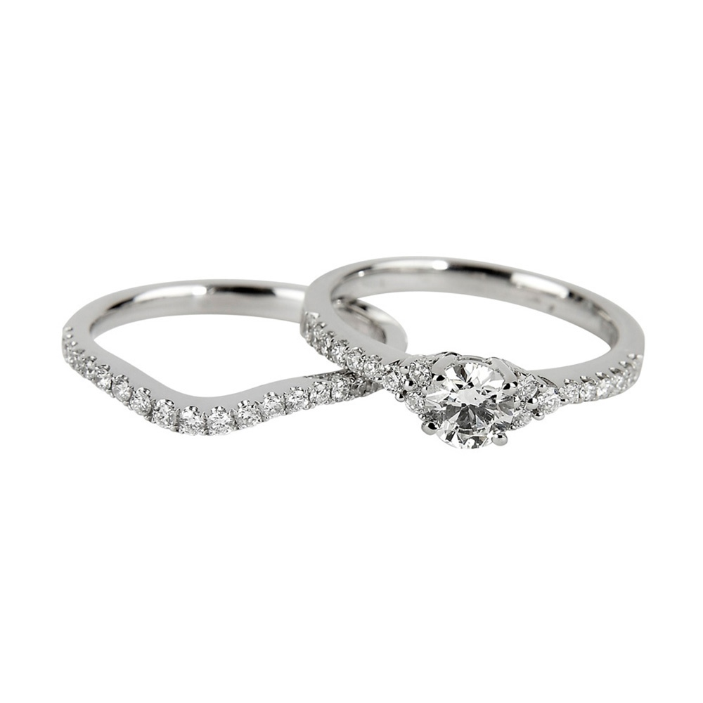 matching rings entwined bands gemvara l forever set wedding