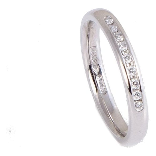 Owen & Robinson Platinum Eternity Ring with Nine Brilliant Cut Diamonds