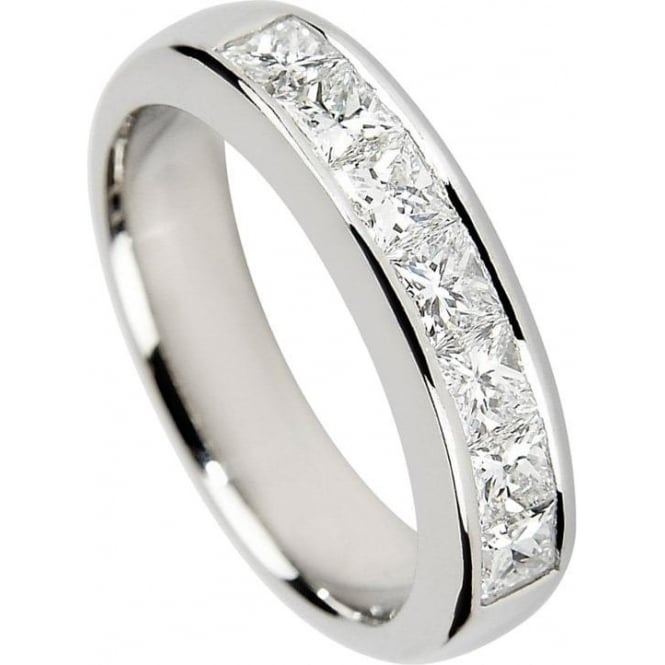 Owen & Robinson Platinum Princess Cut Channel Set Diamond Ring