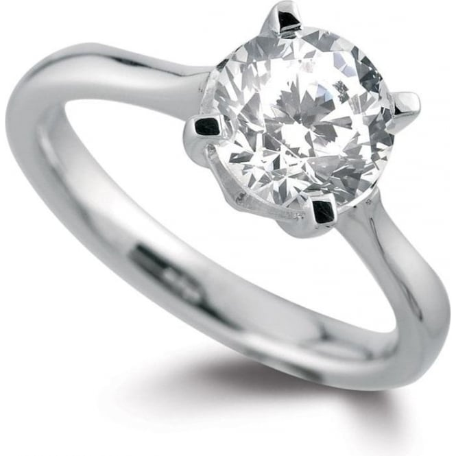 Owen & Robinson Platinum Round Brilliant Certified Diamond Solitaire Engagement Ring