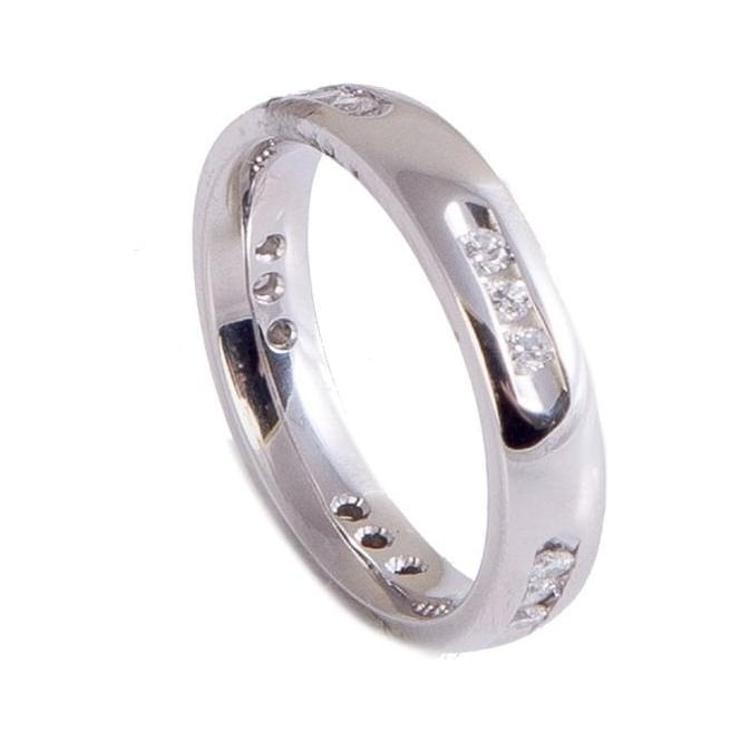 Owen & Robinson Platinum Round Brilliant Cut Diamond Wedding Band