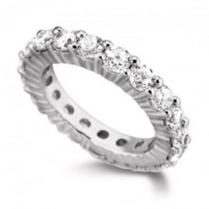 Owen & Robinson Platinum Round Brilliant Diamond Full Eternity Ring