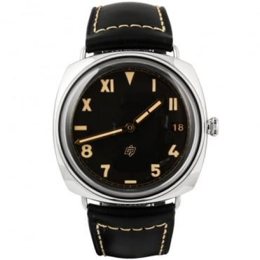 Pre-Owned Panerai Radiomir California 3 Days Hand-wound Black Dial Strap Watch