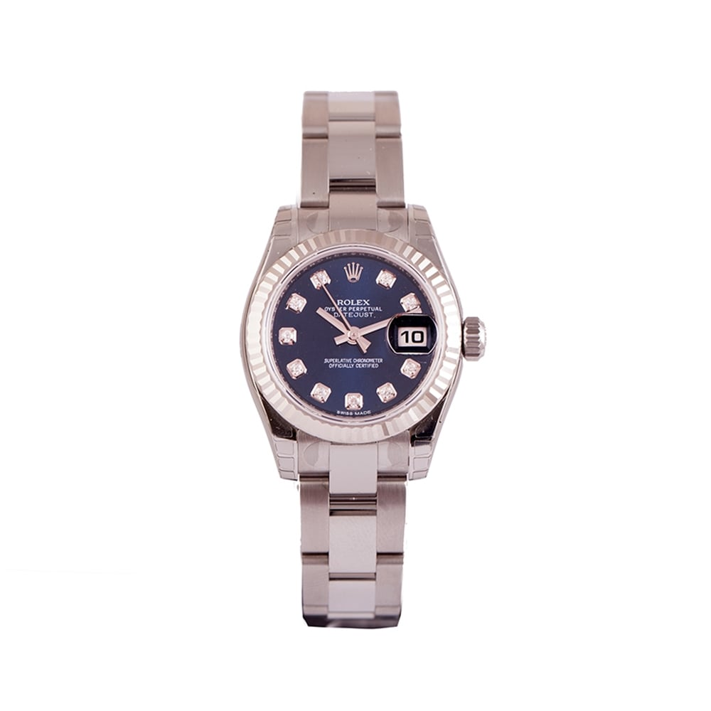 bezel image rolex bracelet itm loading index datejust watch is s fluted dial white oyster