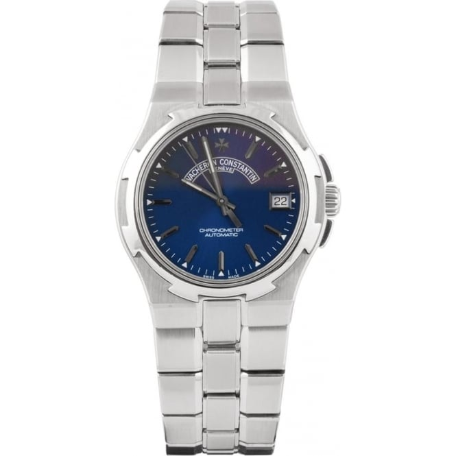 Pre-Owned Vacheron Constantin Overseas Automatic Blue Dial Bracelet Watch