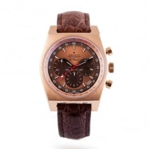Pre-Owned Zenith 18K Rose Gold El Primero Vintage 1969 Limited Edition Rose Gold Dial Strap Watch (RRP - £12,750)