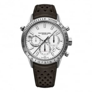 Raymond Weil Freelancer Automatic Chronograph White Dial Strap Watch