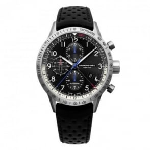 Raymond Weil Freelancer 'Piper' Limited Edition Automatic Chronograph Black Dial Strap Watch