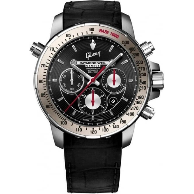 Raymond Weil Gentlemen's Nabucco 'Gibson' Limited Edition Automatic Chronograph Black Dial Strap Watch