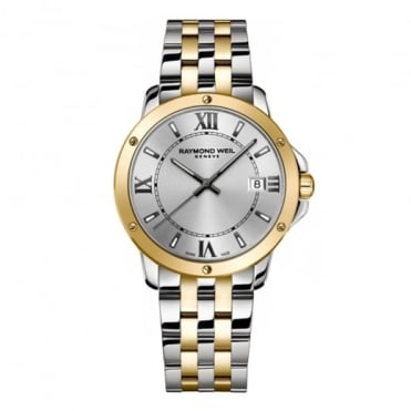 Raymond Weil Gentlemen's Tango Steel & Yellow Gold PVD Silver Dial Bracelet Watch