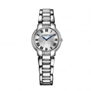 Raymond Weil Ladies Jasmine Diamond Bezel / Silver Dial Bracelet Watch