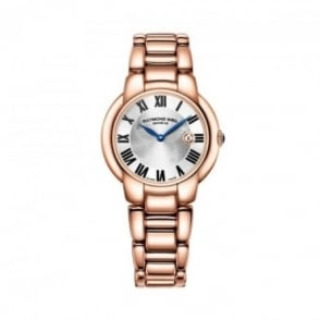 Raymond Weil Ladies Jasmine Rose Gold PVD Silver Dial Bracelet Watch