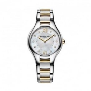 Raymond Weil Ladies Noemia Steel & Yellow Gold PVD Diamond Dot / Mother of Pearl Dial Bracelet Watch