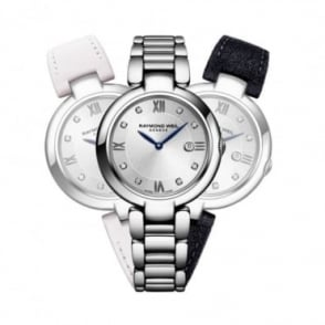 Raymond Weil Ladies Shine 'Repetto' Special Edition Diamond Dot / Silver Dial Interchangeable Bracelet Watch