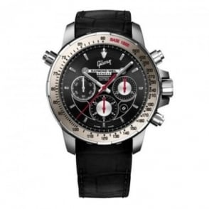 Raymond Weil Nabucco 'Gibson' Limited Edition Automatic Chronograph Black Dial Strap Watch