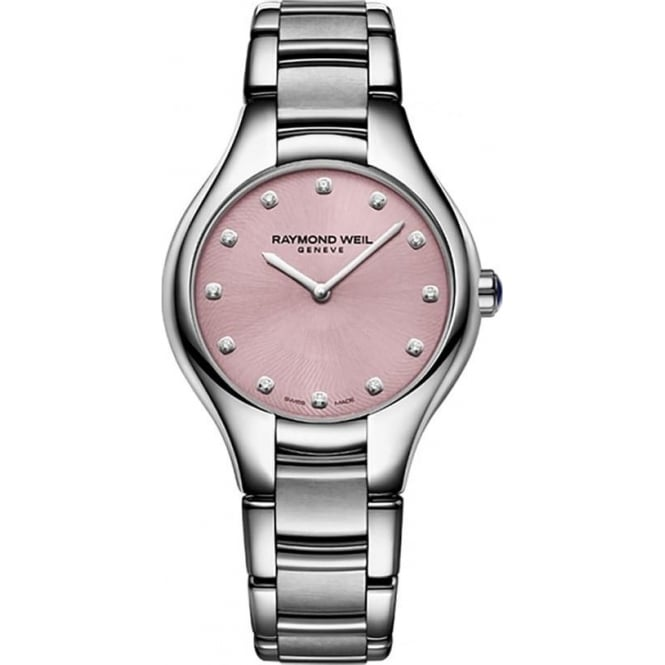 Raymond Weil Noemia 32mm Diamond Dot / Pink Dial Bracelet Watch