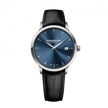 Raymond Weil Toccata 39mm Blue Dial Strap Watch
