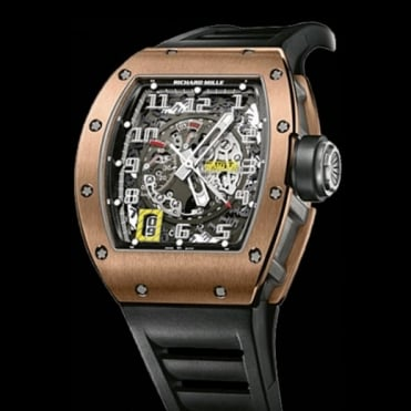 Richard Mille RM 030 Automatic 18K Rose Gold & Titanium Skeletonised Dial Strap Watch