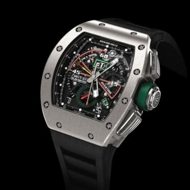 Richard Mille RM 11-01 Roberto Mancini Flyback Chronograph Titanium Skeletonised Dial Strap Watch