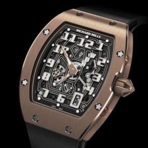 Richard Mille RM 67-01 Extra Flat Automatic 18K Rose Gold Skeletonised Dial Strap Watch
