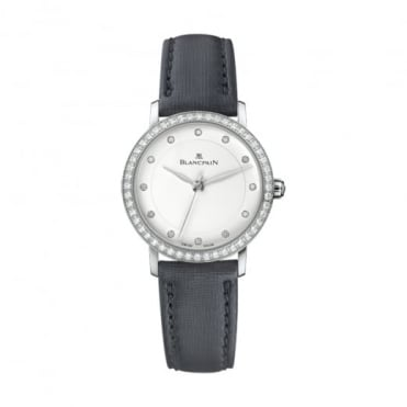 * SPECIAL OFFERS * Blancpain Ultraplate Automatic Diamond Bezel / Diamond Dot / White Dial Strap Watch