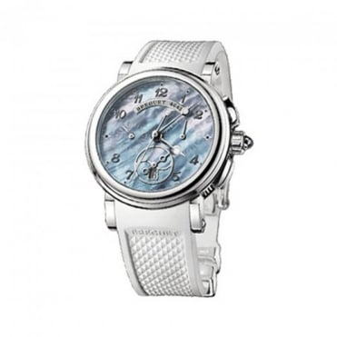 * SPECIAL OFFERS * Breguet Marine Automatic Chronograph Blue Mother of Pearl Dial Strap Watch