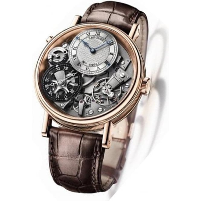 * SPECIAL OFFERS * Breguet Tradition GMT 18K Rose Gold Hand-wound Strap Watch