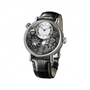 * SPECIAL OFFERS * Breguet Tradition GMT 18K White Gold Hand-wound Strap Watch