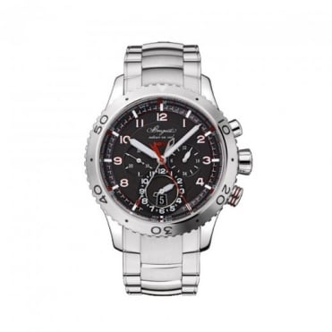 * SPECIAL OFFERS * Breguet Type XXII Automatic Flyback Chronograph Black Dial Bracelet Watch