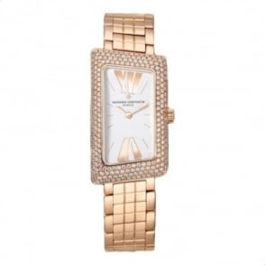 * SPECIAL OFFERS * Vacheron Constantin 1972 18K Rose Gold Diamond Pave Set / Silver Dial Bracelet Watch