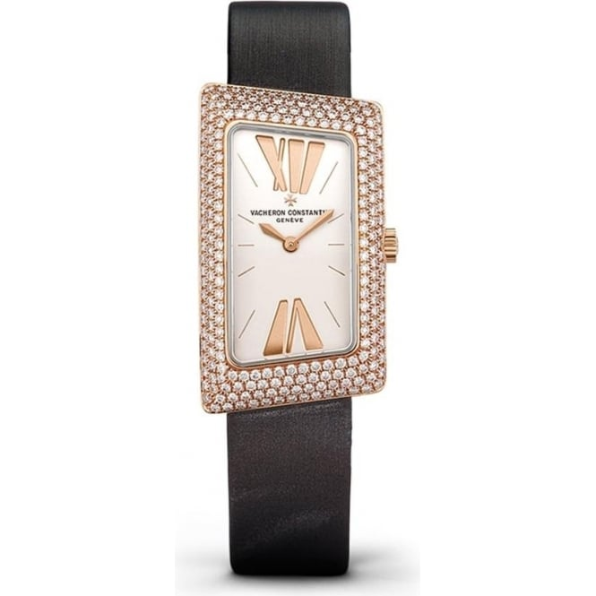* SPECIAL OFFERS * Vacheron Constantin 1972 18K Rose Gold Diamond Pave Set / Silver Dial Strap Watch