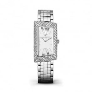 * SPECIAL OFFERS * Vacheron Constantin 1972 18K White Gold Diamond Pave Set / Silver Dial Bracelet Watch
