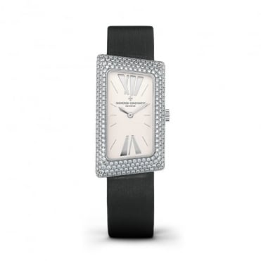 Vacheron Constantin 1972 18K White Gold Diamond Pave Set / Silver Dial Strap Watch