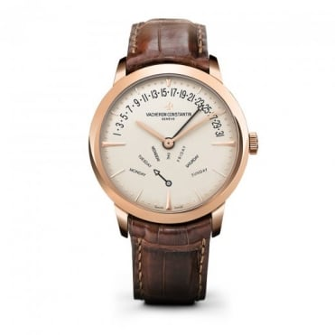 * SPECIAL OFFERS * Vacheron Constantin Patrimony Retrograde Day-Date 18K Rose Gold Automatic Silver Dial Strap Watch