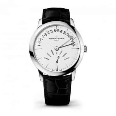 * SPECIAL OFFERS * Vacheron Constantin Patrimony Retrograde Day-Date 18K White Gold Automatic Silver Dial Strap Watch