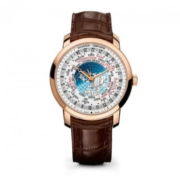 * SPECIAL OFFERS * Vacheron Constantin Traditionnelle World Time 18K Rose Gold Automatic White Dial Strap Watch
