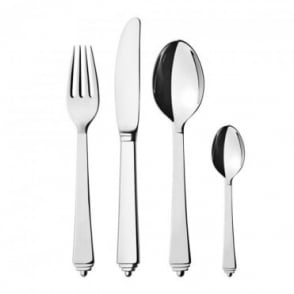 Georg Jensen Stainless Steel Pyramid 16 Piece Cutlery Set- Knife, Fork, Table Spoons, Tea Spoons