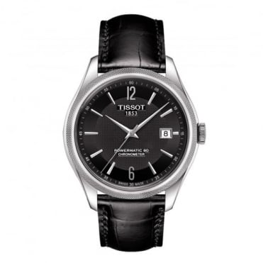 Tissot Ballade Powermatic 80 COSC Black Dial Strap Watch